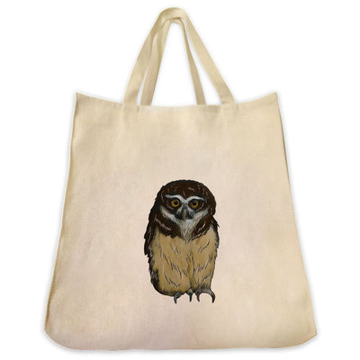 Re-usable Tote Bag - Spectacled Owl Design Extra Large Eco Friendly Reusable Cotton Canvas Tote Bag