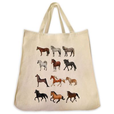 Re-usable Tote Bag - The Horse Lover Tote Bag - Extra Large Eco Friendly Reusable Cotton Canvas Tote Bag - The Perfect Gift Idea For The Horse Lover In Your Life!