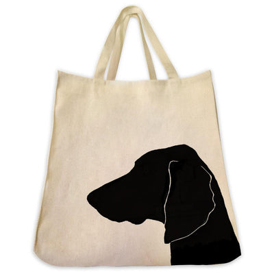 Re-usable Tote Bag - Weimaraner Silhouette Extra Large Eco Friendly Reusable Cotton Canvas Tote Bag