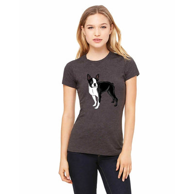 T-shirts - Bella + Canvas Fitted Tee With A Boston Terrier Design