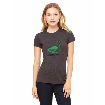 T-shirts - Bella + Canvas Fitted Tee With A Loch Ness Monster With Text Design