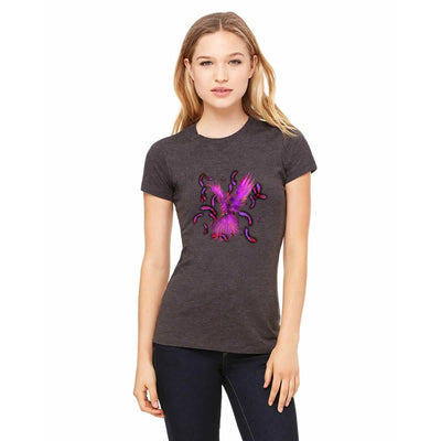 T-shirts - Bella + Canvas Fitted Tee With A Purple Phoenix With Background Design