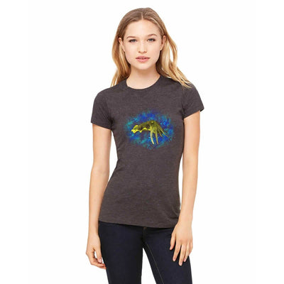 T-shirts - Bella + Canvas Fitted Tee With A Yellow Cuttlefish With Background Design