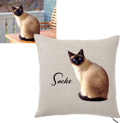 Throw Pillow - Custom Pet Photo Throw Pillow Cover