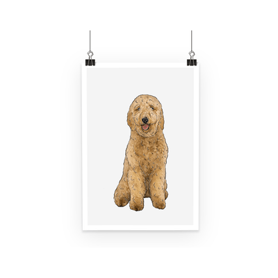 Wall Decor - Goldendoodle Designs By Amitie Poster