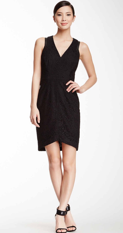 Cynthia Steffe 'Aviana' Fitted Black Dress