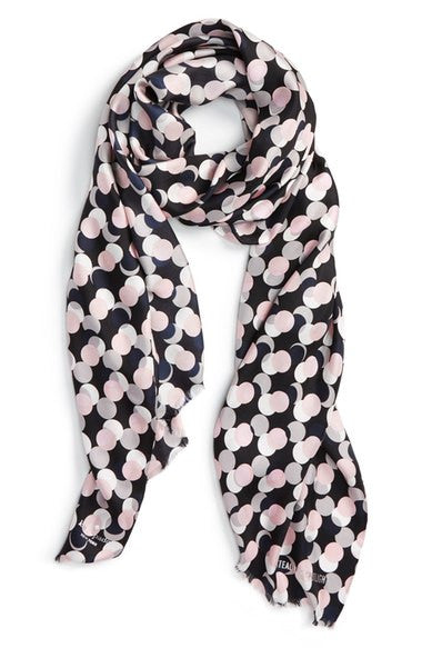 Kate Spade New York Steal The Spotlight Silk Oblong Scarf