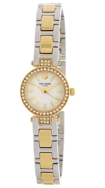 Kate Spade New York Tiny Gamercy Two-Tone CZ Bracelet Watch
