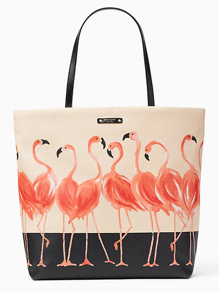 Kate Spade New York Take a Walk on the Wild Side Flamingo Bon Shopper