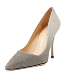 Kate Spade New York Platinum Glitter Ombre 'Licorice' Pumps