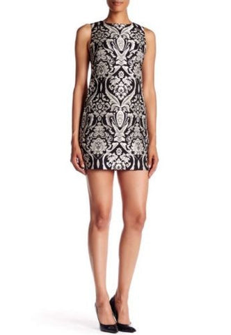 Alice + Olivia CLYDE Damask Jacquard Shift Dress
