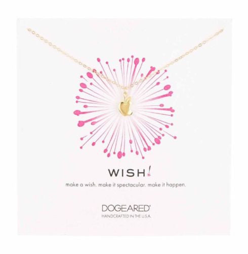 Dogeared Gold Wish Apple Necklace