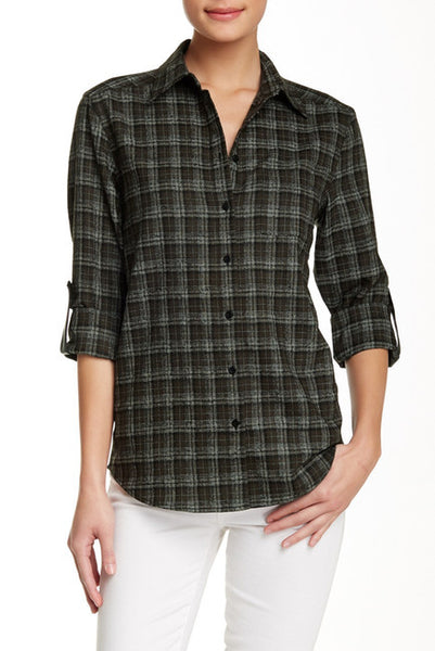 Alice + Olivia Piper Wool Blend Button-Down Shirt