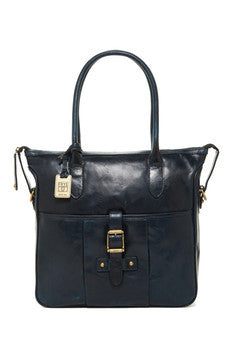 Frye Parker Leather Tote in Navy