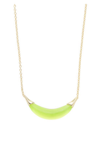 Alexis Bittar Capped Lucite Crescent Necklace