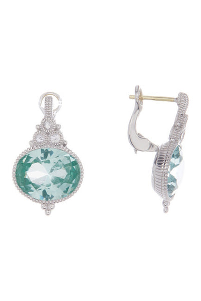 Judith Ripka Sterling Silver La Petite Oval Paraiba Spinel Earrings
