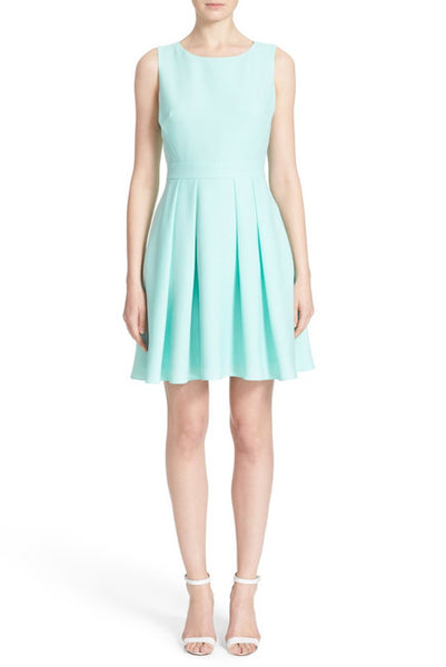 Kate Spade New York Bow Back Crepe Fit & Flare Dress