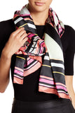 Ted Baker London Zebra Print Long Silk Scarf