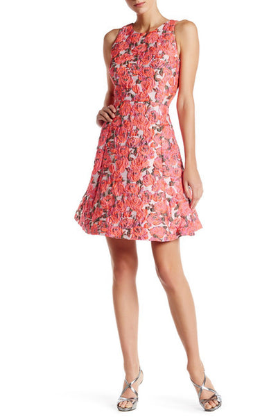 Kate Spade New York Rose Brocade Open Back Dress