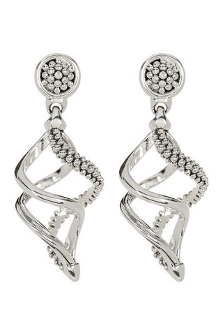 LAGOS Sterling Silver Small Unlaced Swirl Earrings