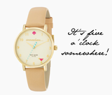 Kate Spade New York Metro Somewhere Happy Hour Watch - Multiple Colors