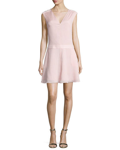 Halston Heritage Draped Back Silk Dress