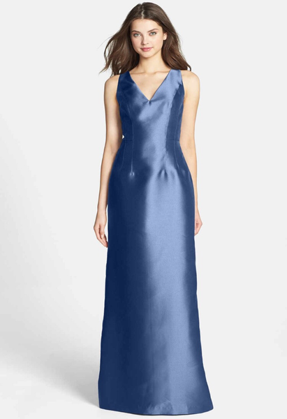 Adrianna Papell Mikado Blue Gown