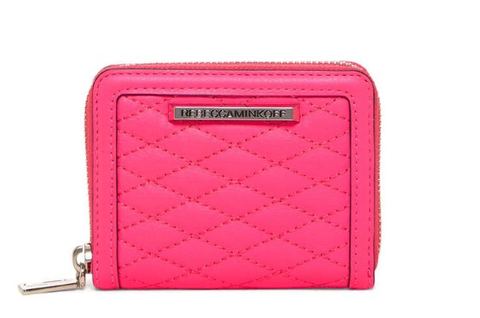 Rebecca Minkoff Ava Mini Zip Quilted Leather Wallet