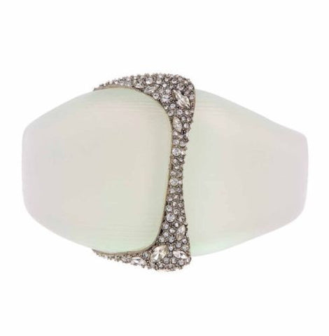 Alexis Bittar Lucite Crystal Encrusted Liquid Hinged Bangle  - Multiple Colors