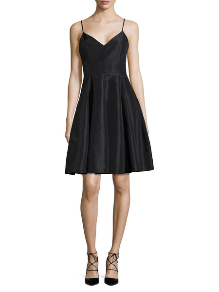 Halston Heritage Spaghetti Strap Structured Dress