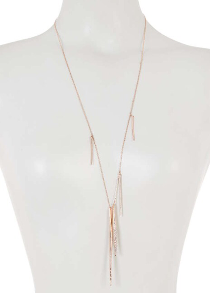 Alexis Bittar Miss Havisham Crystal Encrusted Long Spear Necklace