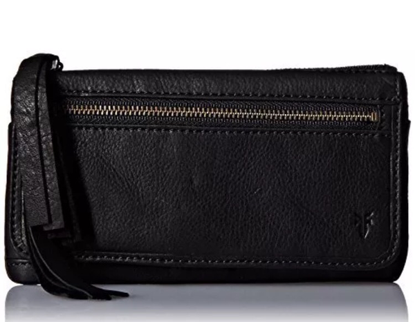 Frye Heidi Black Leather Wallet