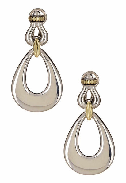 LAGOS Derby Silver & 18K Gold Drop Earrings