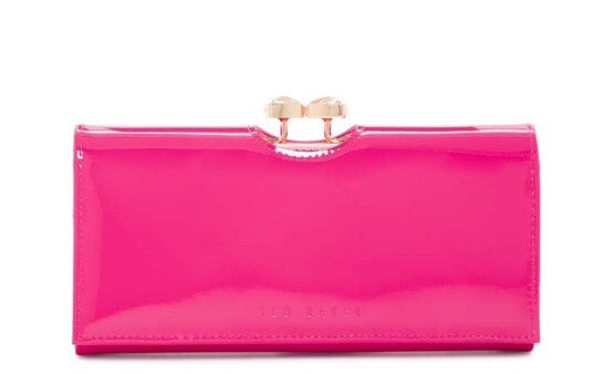 Ted Baker London Caleena Pink Leather Matinee Wallet