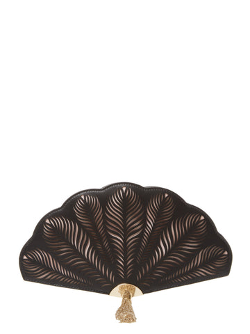 Kate Spade New York Dress The Part Leather Fan Clutch