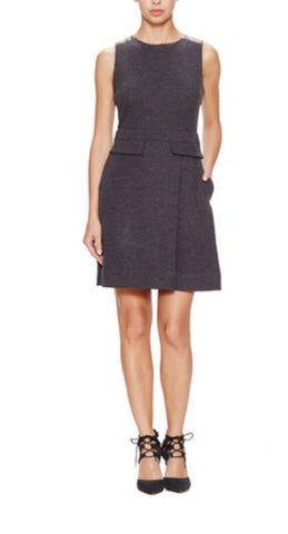 Marc Jacobs Grey Milly Milano Wool Leather Dress