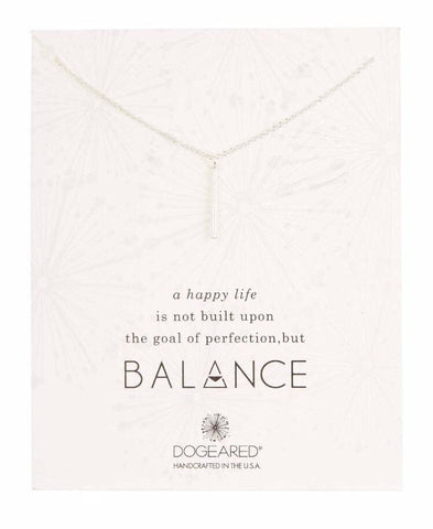Dogeared Sterling Silver Balance Vertical Tube Necklace