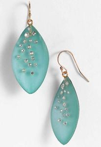 Alexis Bittar Lucite Dust Leaf Statement Earrings - Multiple Colors