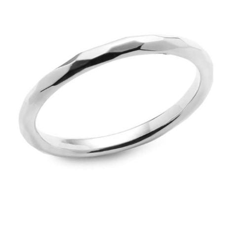 Simon Sebbag Sterling Silver Faceted Bangle