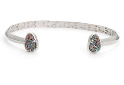 Kendra Scott Hanna Pinch Bracelet in Multi Drusy