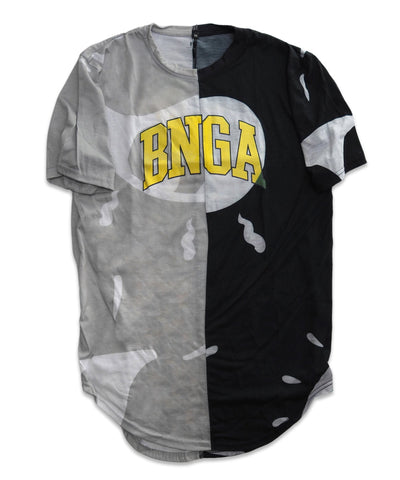 BNGA Split FOV Tee (Grey/Blk) | Upcycle Collection