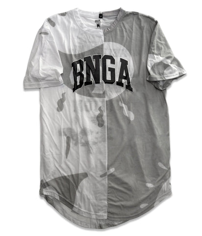 BNGA Split FOV Tee (Grey/Wht) | Upcycle Collection