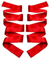 Greygasms Scarlet Red Satin Sash Set