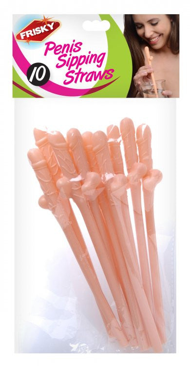 Frisky Penis Sipping Straws 10 Pack