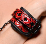 Master Series Crimson Tied Embossed Wrist Cuffs