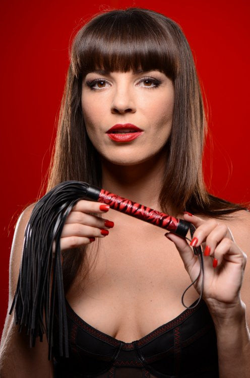 Master Series Crimson Tied Embossed Flogger