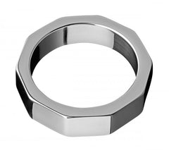 Stainless Steel Hex Nut Cock Ring- 1.75 Inch