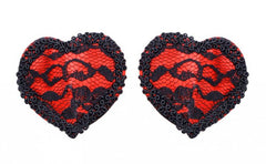 Lacey Red Heart Pasties