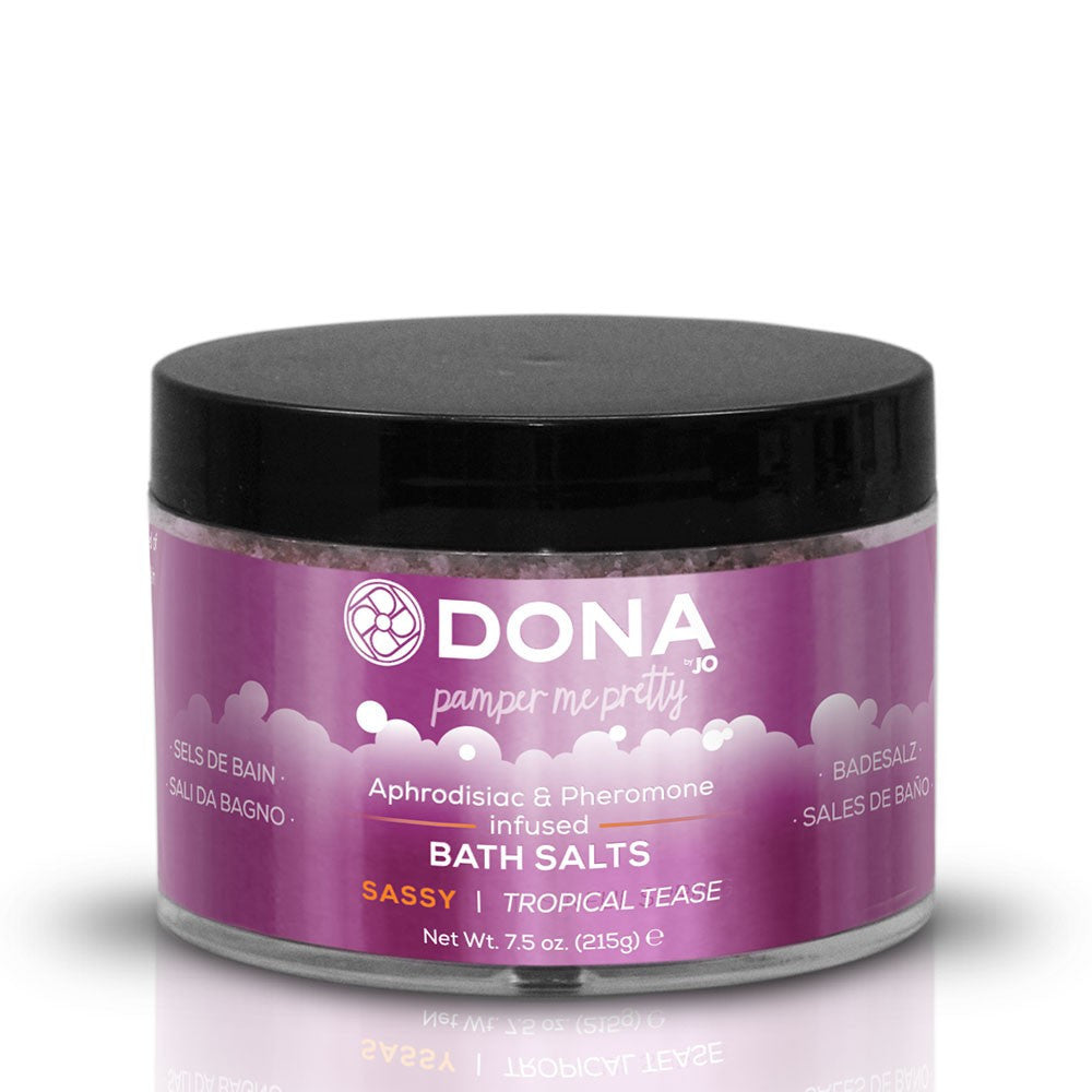 Dona By Jo Pamper Me Pretty Bath Salts 7.5oz in Sassy Tropical Tease