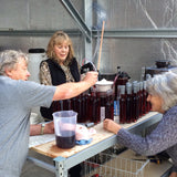 Helping bottle sloe gin at Nonesuch Distillery